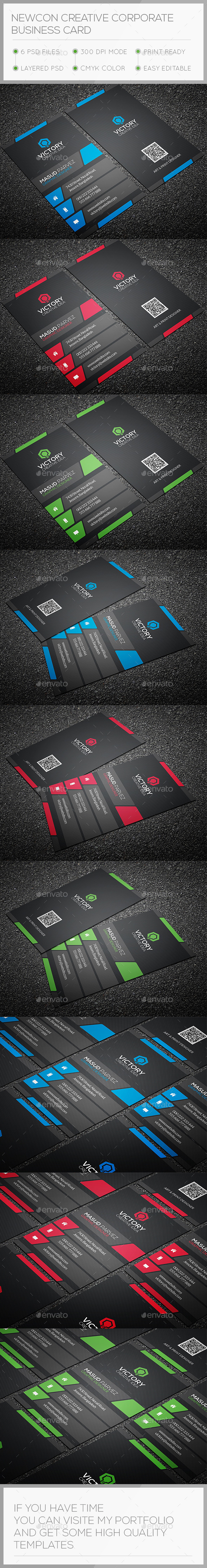 Newcon Creative Business Card - Corporate Business Cards