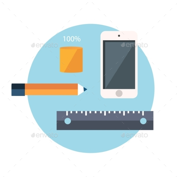 Smartphone and Office Supplies - Man-made Objects Objects