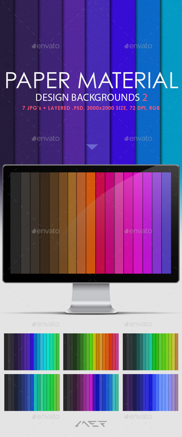 Paper Material Design Backgrounds 2 - Abstract Backgrounds