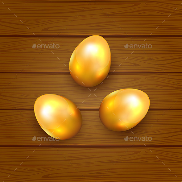 Golden Easter Eggs - Backgrounds Decorative