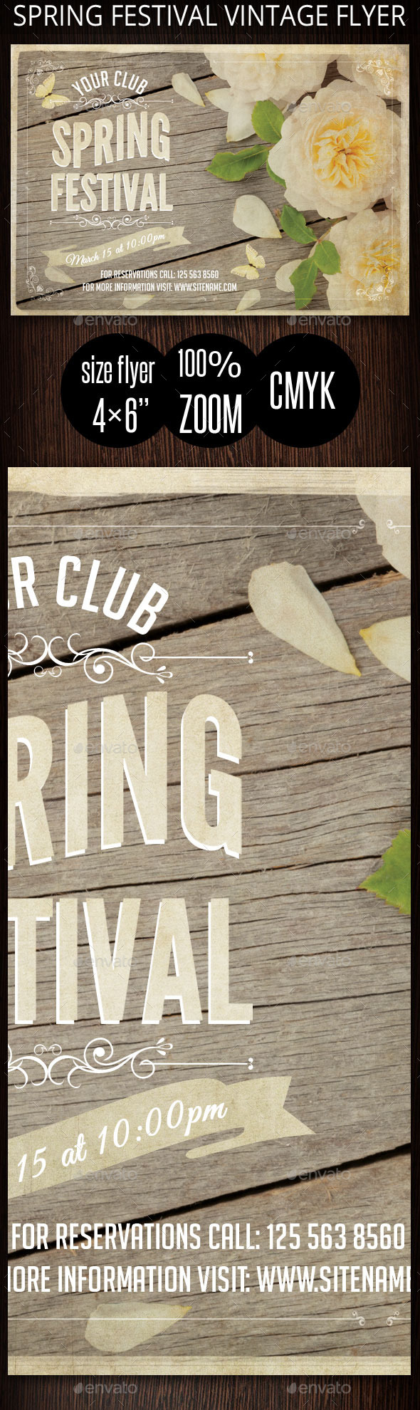 Spring Festival Vintage Flyer - Clubs & Parties Events