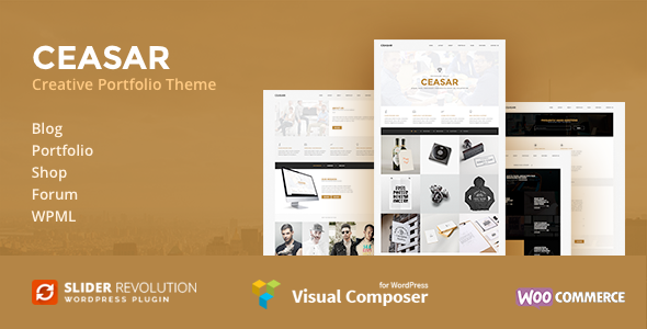 Ceasar – Multipurpose Portfolio WordPress Theme