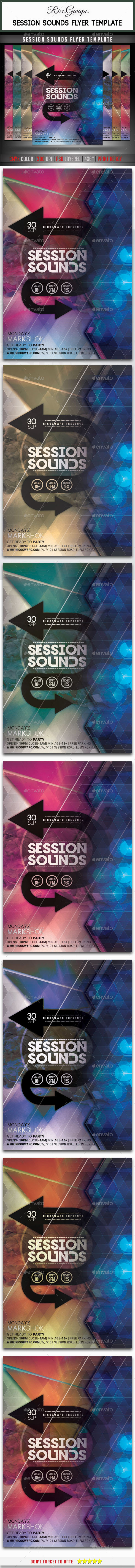 Session Sounds Flyer Template - Flyers Print Templates