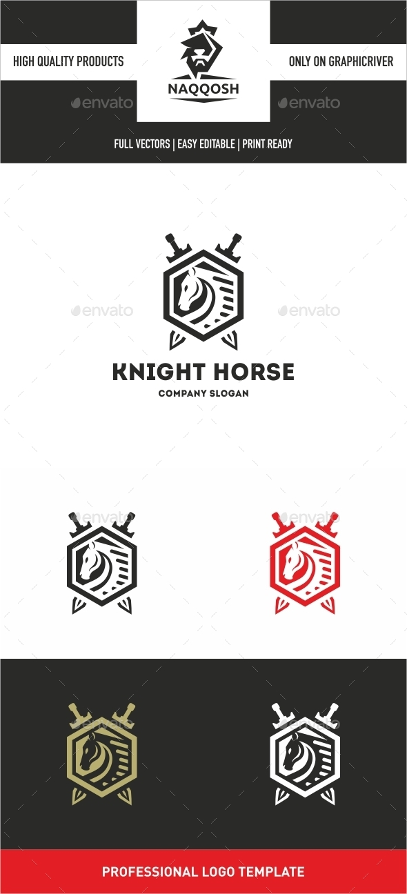 Knight horse  - Crests Logo Templates