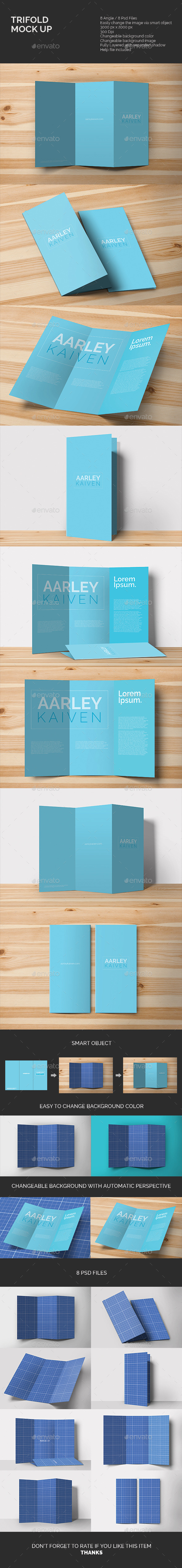 Trifold Mock-up - Miscellaneous Print