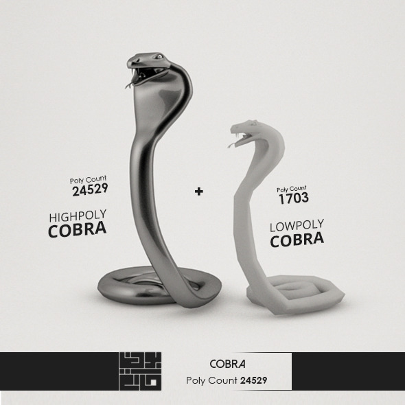 Cobra 3D Model - 3DOcean Item for Sale