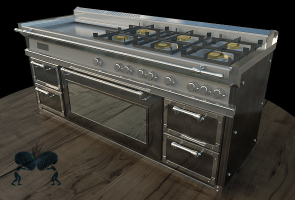 Kitchen Stove - 3DOcean Item for Sale