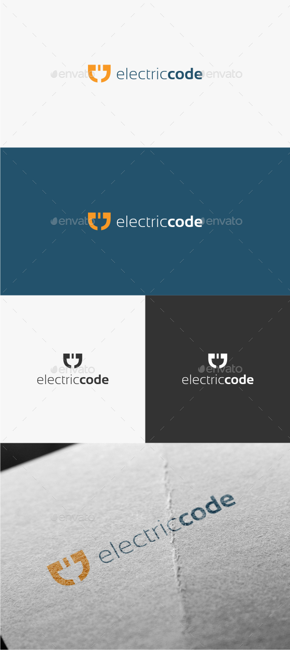 Electric Code - Logo Template - Symbols Logo Templates
