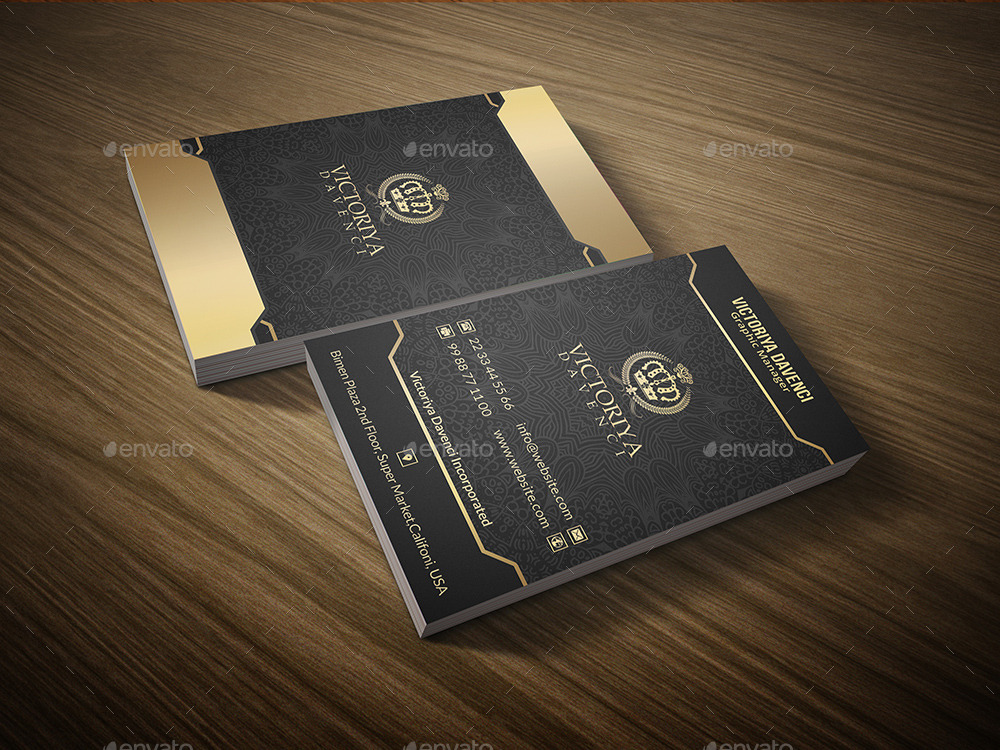 Senor Gold Style Business Card by EVNY | GraphicRiver