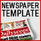 DailyScope - Newspaper Template (16 + 3 Pages) - GraphicRiver Item for Sale