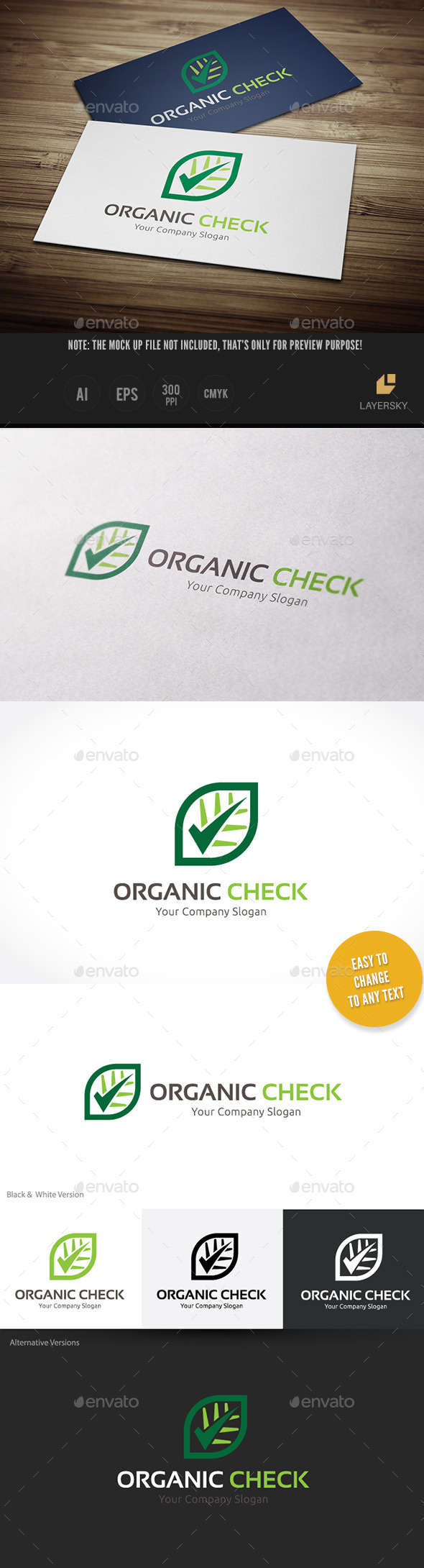 Organic Check - Food Logo Templates