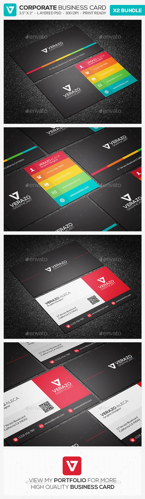 Business Card Bundle 16 - Corporate Business Cards