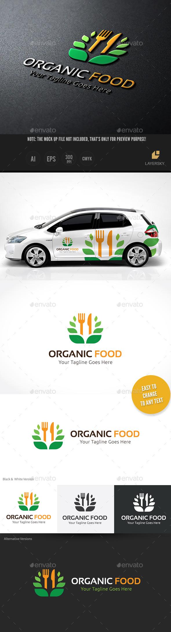 Organic Food - Food Logo Templates