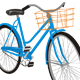 Old Blue Bike - GraphicRiver Item for Sale