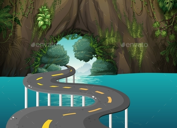 Road through a Cave  - Landscapes Nature