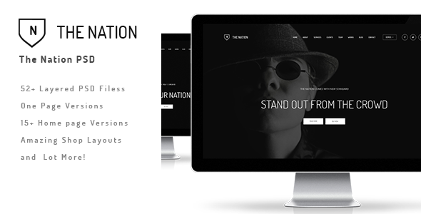 The Nation - Business and Creative PSD - Creative PSD Templates