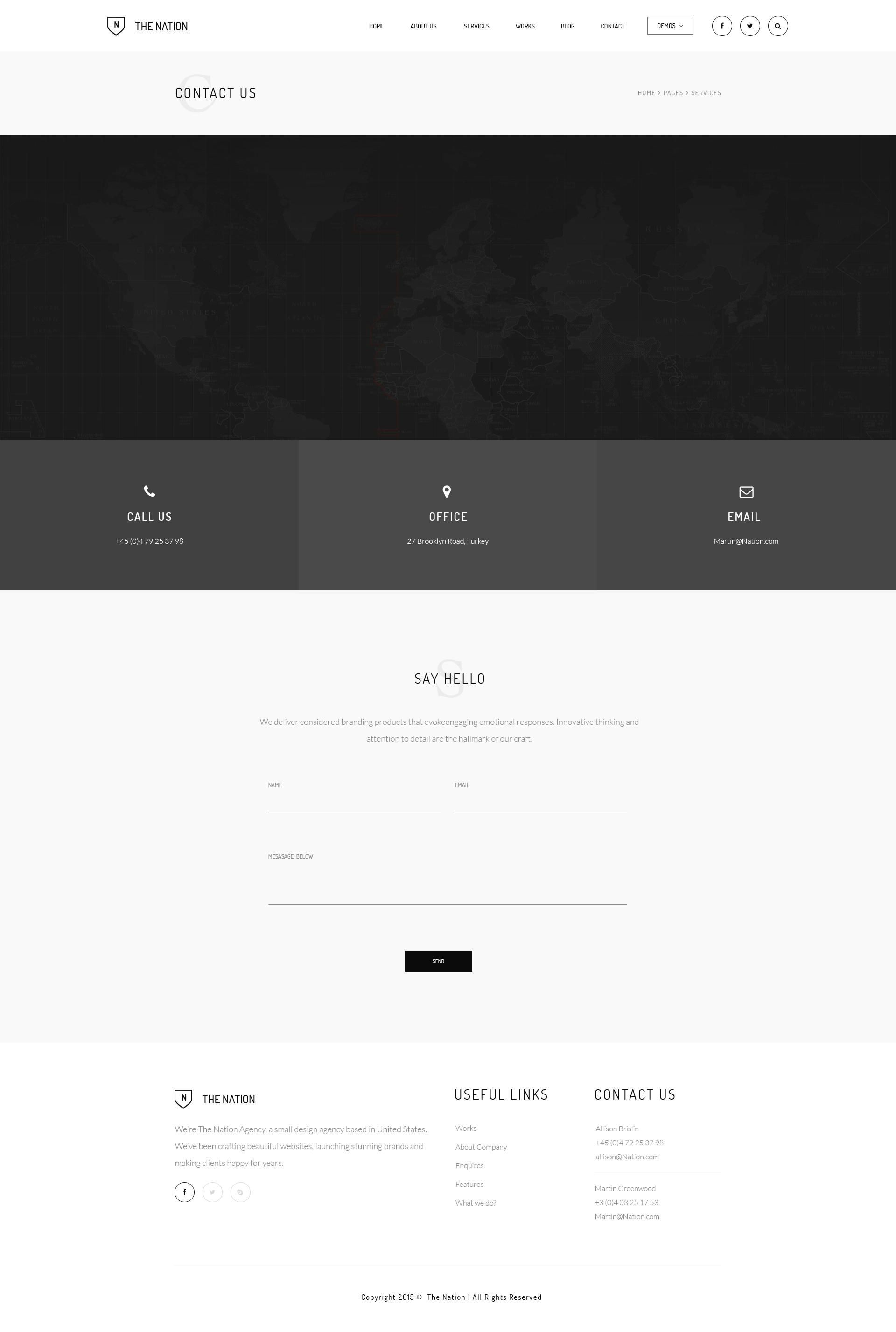 The Nation - Business and Creative PSD