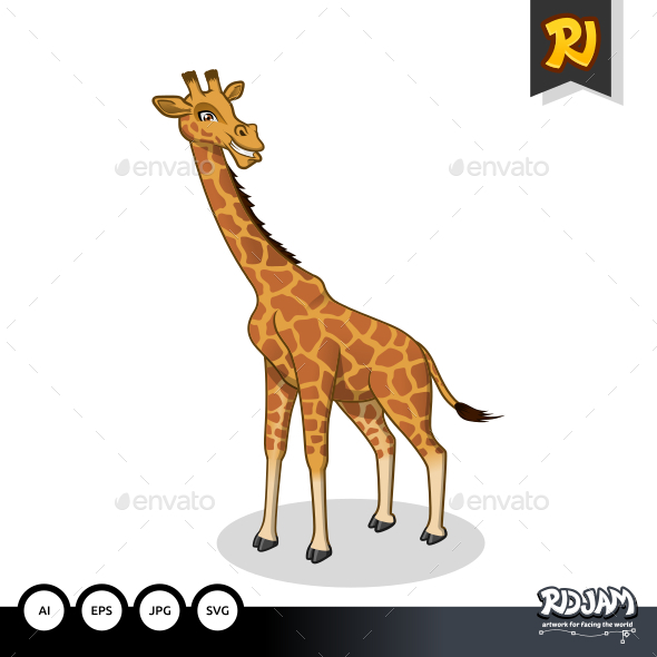 Giraffe Cartoon - Animals Characters