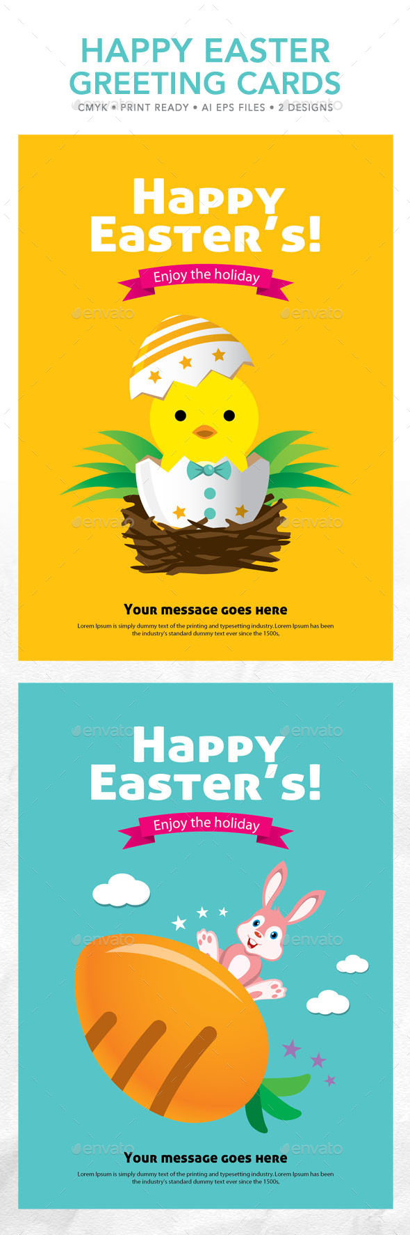 Happy Easter Greeting Cards - Seasons/Holidays Conceptual