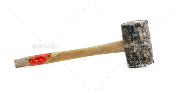 old rubber hammer - Stock Photo - Images