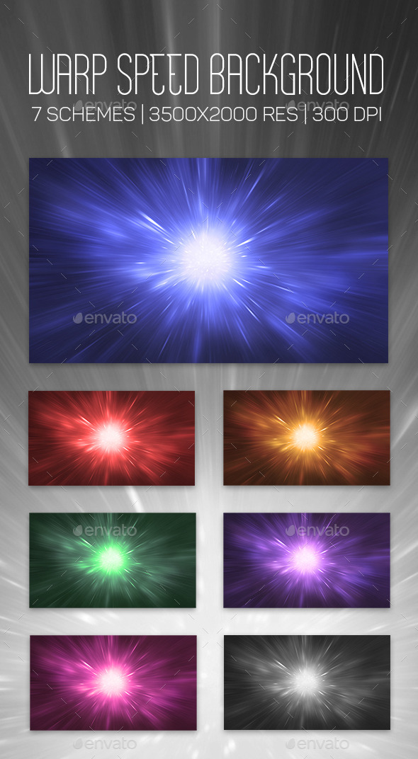 Warp Speed Background - Abstract Backgrounds