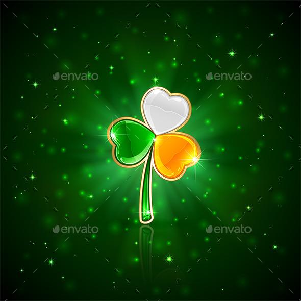 Shiny Clover Leaf - Backgrounds Decorative