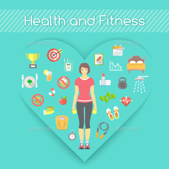 Woman Health and Fitness Concept - Sports/Activity Conceptual