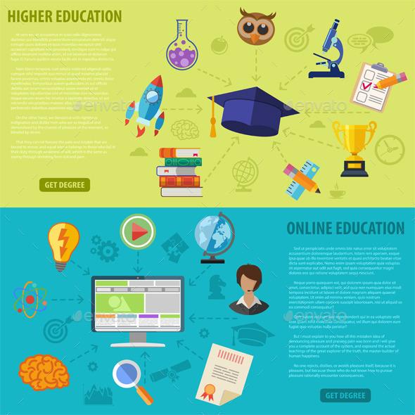 Education Banners - Web Technology