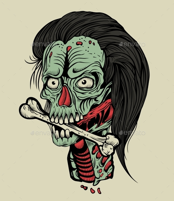 Zombie with a Bone  - Monsters Characters
