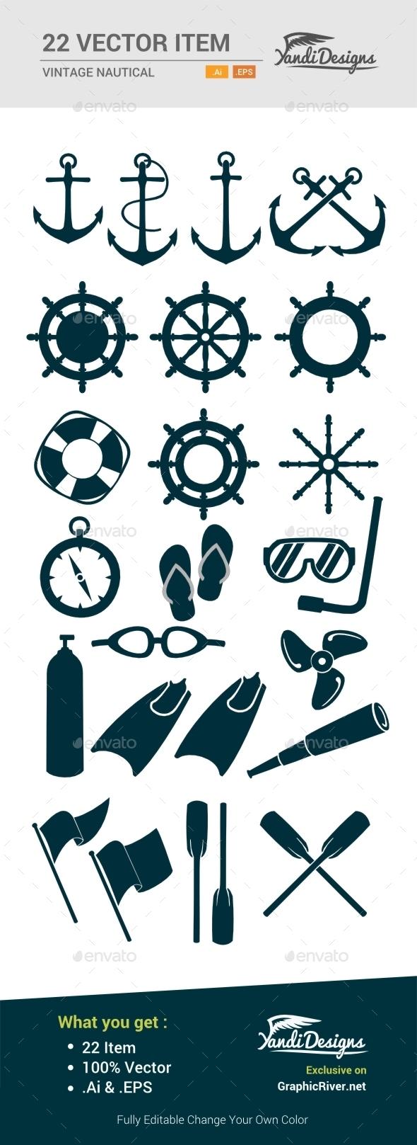 Vintage Nautical Item - Objects Vectors