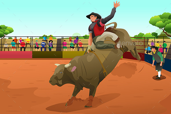 Rodeo Rider in an Arena - People Characters
