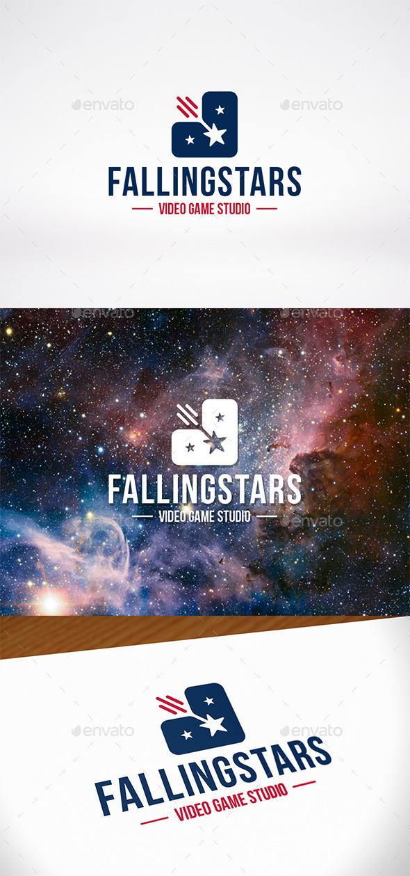 Falling Stars Logo Template - Symbols Logo Templates