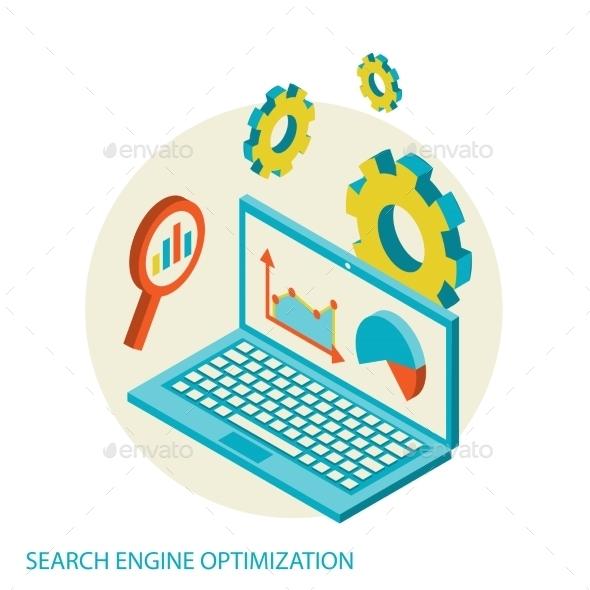 Search Engine Concept  - Decorative Vectors