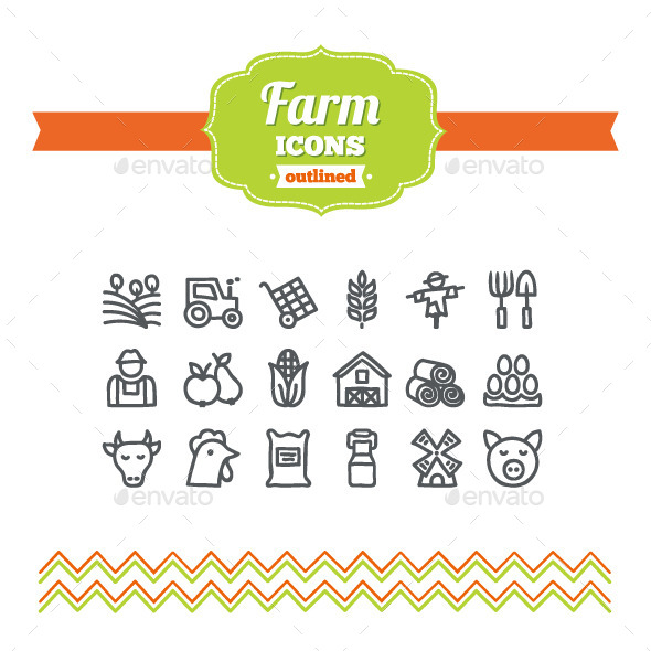 Hand Drawn Farm Icons - Seasonal Icons