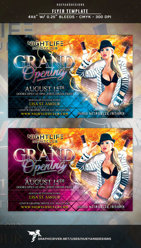 Grand Opening Flyer Template By Hueyangdesigns  Graphicriver