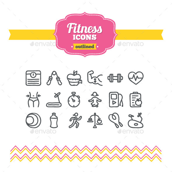 Hand Drawn Fitness Icons - Miscellaneous Icons