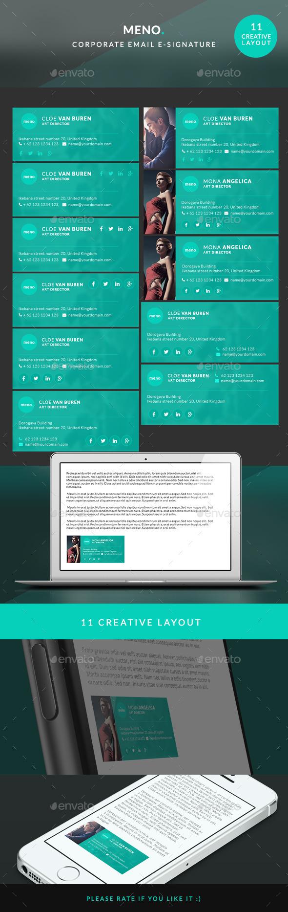 Corporate E-signature - Meno - Miscellaneous Web Elements