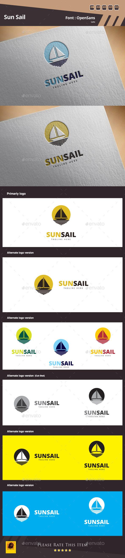 Sun Sail Logo Template - Objects Logo Templates