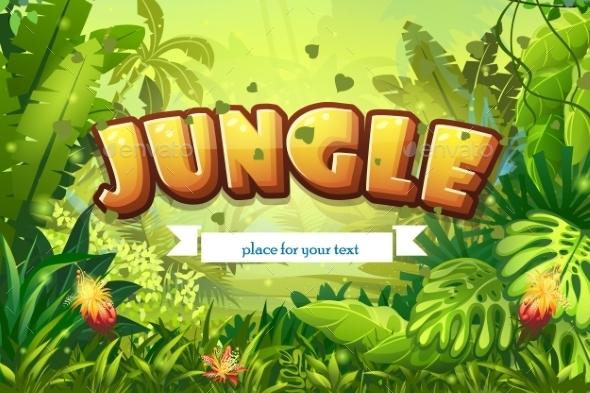 Jungle Background  - Nature Conceptual