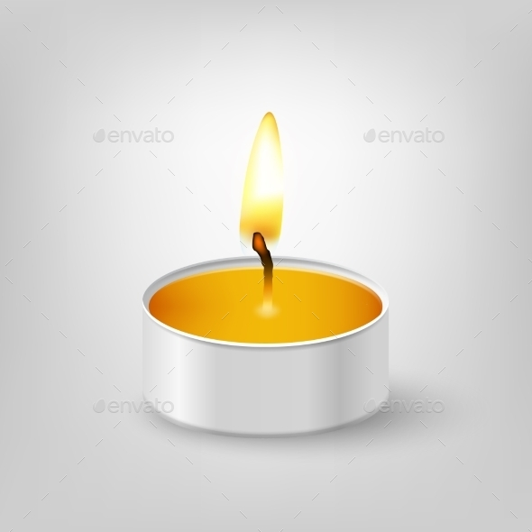 Tealight Candle.  - Objects Vectors