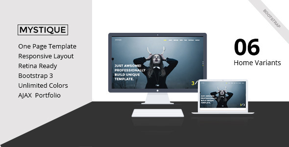 MYSTIQUE – Creative One Page HTML5 Template