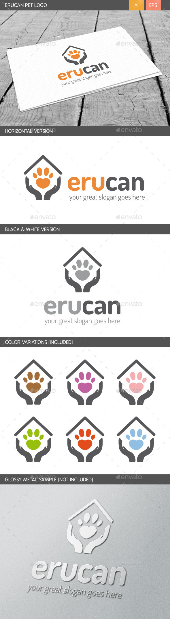 Erucan Pet Logo - Animals Logo Templates