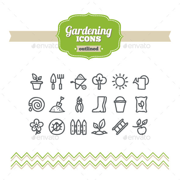 Hand Drawn Gardening Icons - Miscellaneous Icons