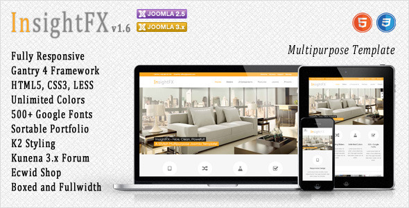 InsightFX - Multipurpose Joomla Template - Joomla CMS Themes