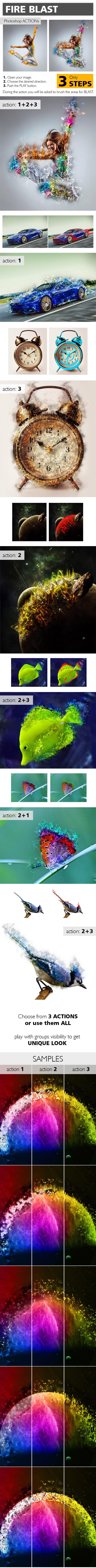 Fire Blast Photoshop Action - Actions Photoshop