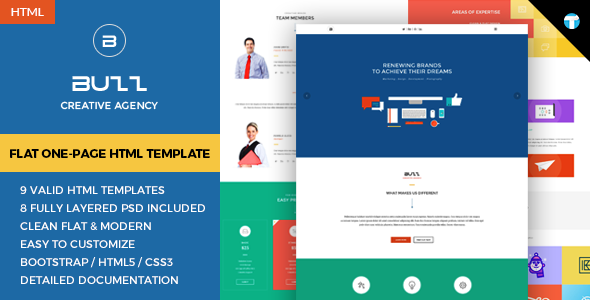 Buzz – Flat Responsive Onepage HTML Site Template