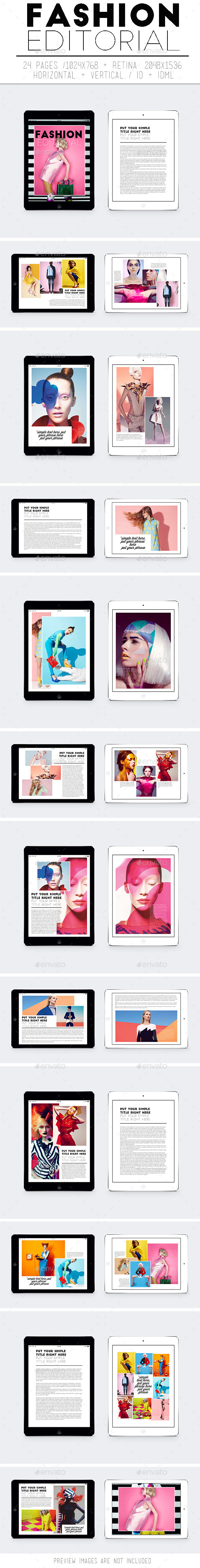 Tablet Fashion Editorial - Digital Magazines ePublishing