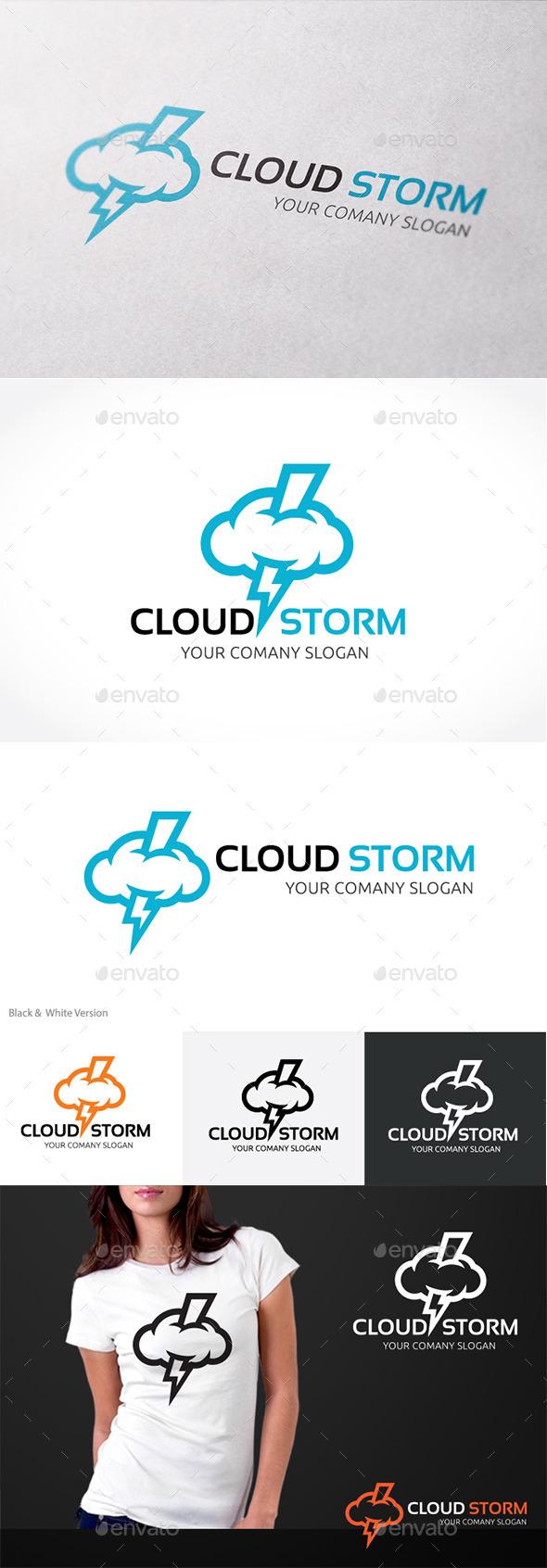Cloud Storm - Nature Logo Templates