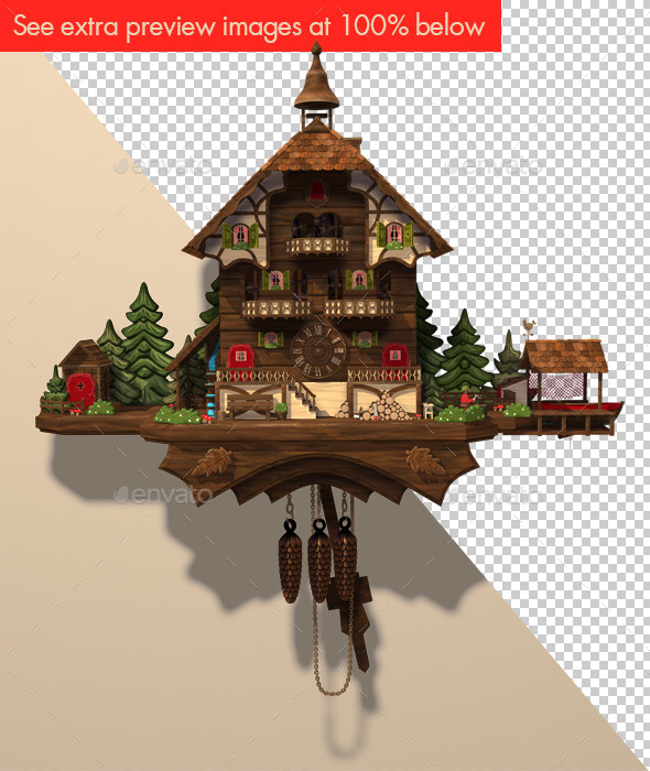 Cuckoo Clock Daytime Illustration - Scenes Illustrations