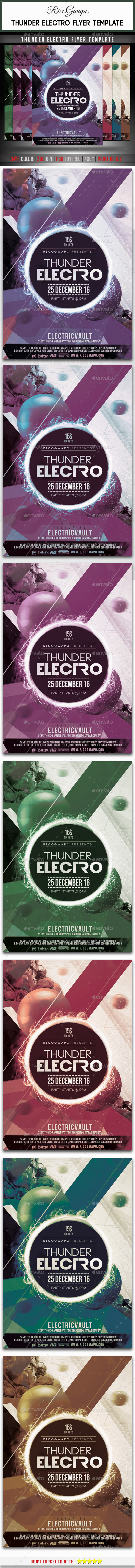 Thunder Electro Flyer Template - Events Flyers